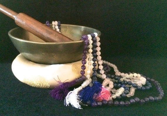 Whispered™ Crystal Mala Prayer Beads - All 4 Types